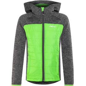 Meru Prag Knitted Fleece & Padding Jacket Kids Carbon/Green